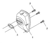 Прокладка глушителя триммера Husqvarna 122LD (рис 3)