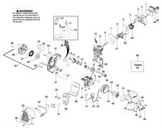 Кожух воздухозаборника триммера Husqvarna 125C (рис 3)