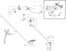 Труба вала и редуктор  триммера Husqvarna 128R (рис 15)