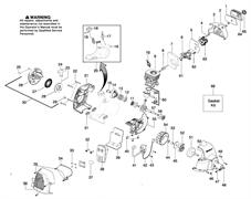 Крышка воздушного фильтра триммера Husqvarna 125C (рис 64)