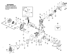 Винт крышки фильтра триммера Husqvarna 125C (рис 65)