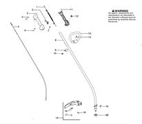 Правая крышка задней рукоятки триммера Husqvarna 125C (рис 3)