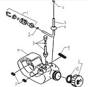 Клапан топливного бака триммера Husqvarna 122L (рис 3)