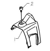 Крышка цилиндра триммера Husqvarna 122L (рис 1)