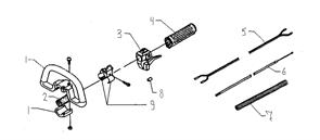Крепление рычага газа триммера Husqvarna 122L (рис 3)