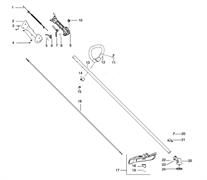 Крышка и трос газа триммера Husqvarna 125L (рис 1)