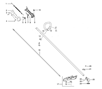 Крепление кожуха триммера Husqvarna 125L (рис 21)