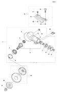 Кронштейн кожуха триммера Husqvarna 135R (рис 13)