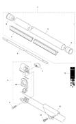 Ручка фиксатора триммера Husqvarna 135R (рис 7)