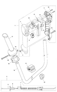 Курок газа и предохранитель триммера Husqvarna 135R (рис 10)