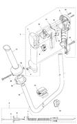 Набор тросика и проводов в сборе триммера Husqvarna 135R (рис 5)
