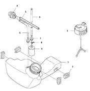 Топливный бак в сборе триммера Husqvarna 135R (рис 1)