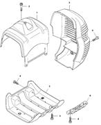 Защита глушителя триммера Husqvarna 135R (рис 5) - фото 8625