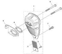 Прокладка глушителя триммера Husqvarna 135R (рис 4)