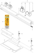 Труба триммера Husqvarna 143R II (рис 2)