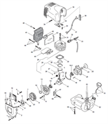Цилиндр и поршень в сборе триммера Alpina 534D (рис 29)