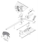 Вал коробки передач в сборе триммера Alpina 534D (рис 26)
