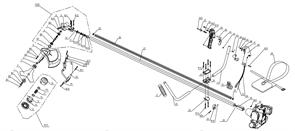 Корпус ручки в сборе триммера Baumaster BT-8925X (рис 39,48)