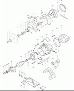 Плоская шайба 14 3608B/HR2400/ перфоратор Makita HR2400 рис.( 56)