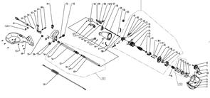 Трубка в сборе триммера Baumaster GT-3550X (рис 101)
