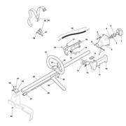Дроссельный кабель триммера Castelgarden BJ250 (рис 19)