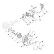 Воздушный фильтр триммера Castelgarden BJ 250 (рис 11)