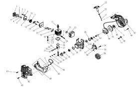 Воздушный фильтр триммера Champion T221 (рис 2)