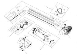 Кожух защитный триммерной головки триммера Champion T221 (рис 9)