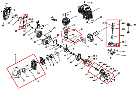 Воздушный фильтр триммера Champion T252 (рис 1-2)