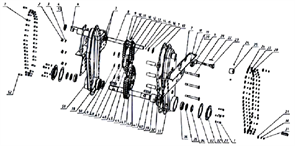 Прокладка мотоблока Кадви МБ-1Д1М (рис.17)