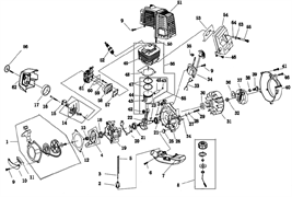 Топливный бак триммера Champion T517 (рис 7)