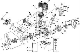 Прокладка картера триммера Champion T517 (рис 20)
