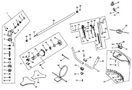 Рукоятка управления триммера Champion T517 (рис 40)