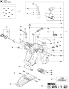 TANK CAP ASSY спасательного бензореза Husqvarna POWER CUTTERS K 770, 2017-11 (9678091-01) (рис.26)