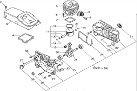 ПРОКЛАДКА КАРТЕР бензореза ECHO CSG680 (рис.24)
