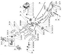 Трос газа в сборе культиватора TEXAS Hobby 500 B (рис.56) - фото 9921