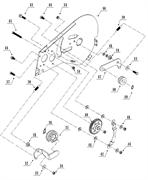 Шестерня культиватора TEXAS TX501 TG (рис. 40)